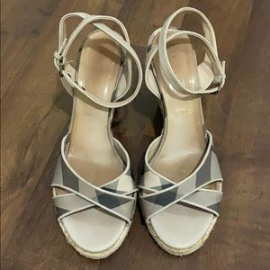 Burberry espadrille wedges, size 38